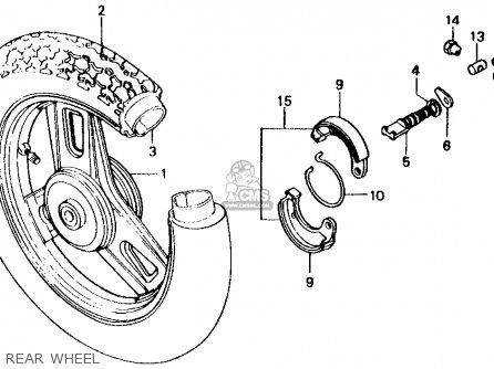 Honda Sb50 Es Elite E 1988 j Usa Rear Wheel