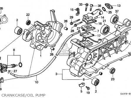 honda sj50 bali 1995 (s) england parts lists and schematics colored ct70 wiring-diagram crankcase oil pump