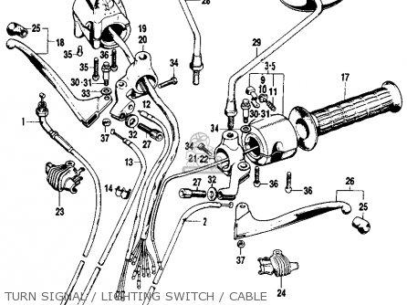 Honda    Sl100    Motosport 1972 K2 Usa parts list partsmanual partsfiche