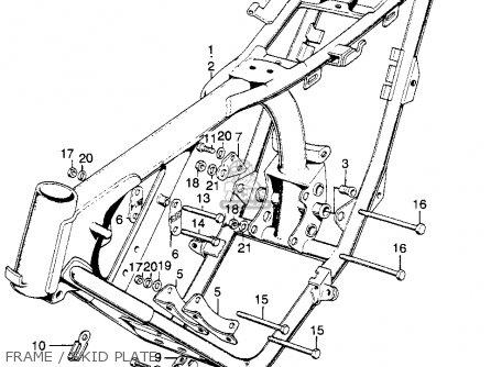 honda sl175 motosport 1970 k0 usa parts lists and schematics 1972 Honda SL175 Specs frame skid plate