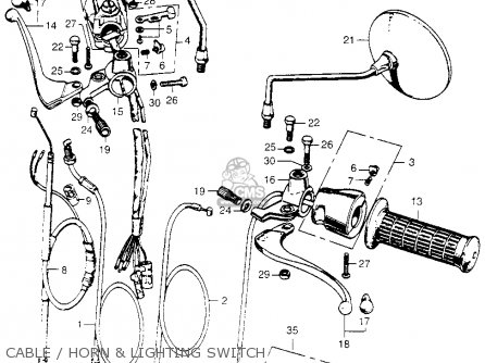 1971 Honda Cl100 Wiring Diagram on ct90 battery