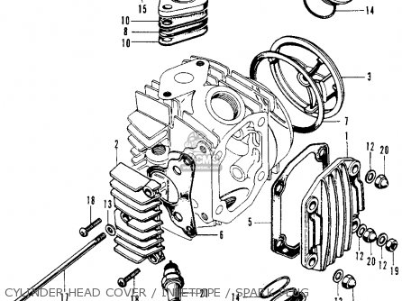 honda sl70 motosport 1973 k1 usa parts lists and schematics