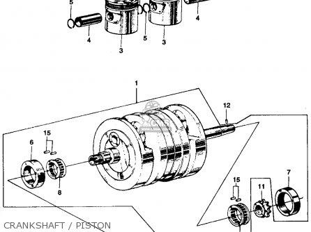 honda ss125a super sport 1967 usa crankshaft / piston