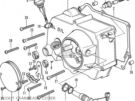 1964 Honda 50 Scooter Engine Diagram