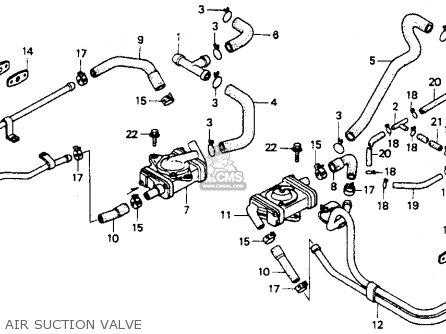 Honda St1100 1991 m Usa California Air Suction Valve