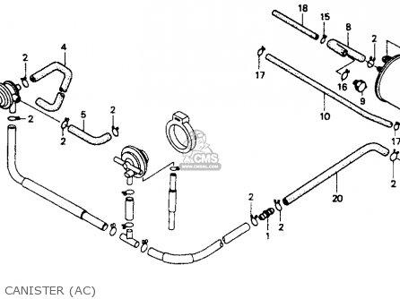 Honda St1100 1991 m Usa California Canister ac