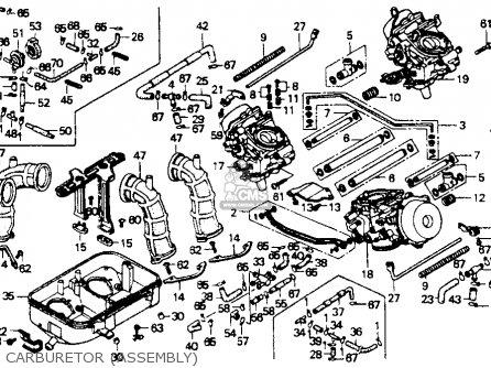 Honda St1100 1991 m Usa California Carburetor assembly