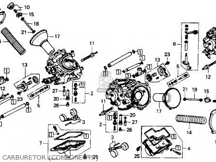 Honda St1100 1991 m Usa California Carburetor components