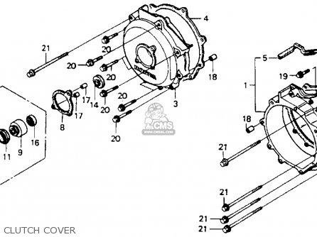Honda St1100 1991 m Usa California Clutch Cover