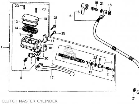 Honda St1100 1991 m Usa California Clutch Master Cylinder