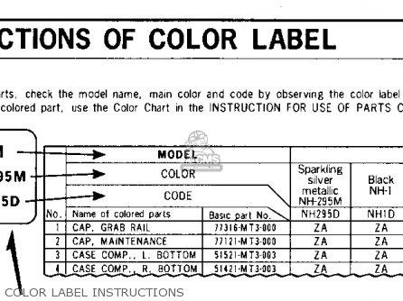 Honda St1100 1991 m Usa California Color Label Instructions