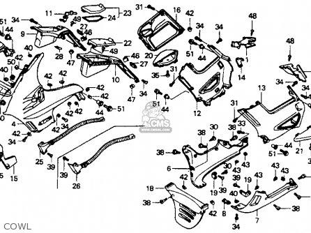 Honda St1100 1991 m Usa California Cowl