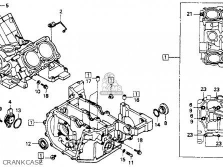 Honda St1100 1991 m Usa California Crankcase