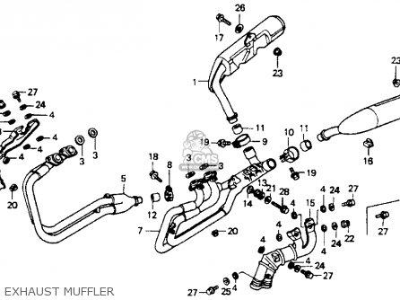 Honda St1100 1991 m Usa California Exhaust Muffler