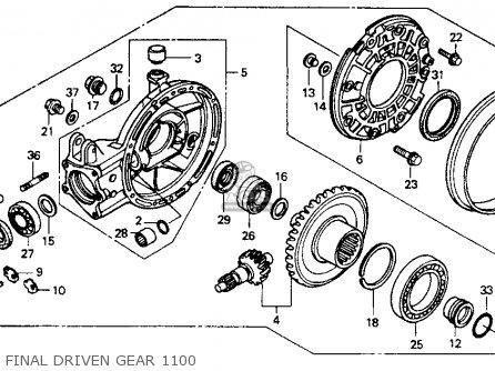 Honda St1100 1991 m Usa California Final Driven Gear 1100