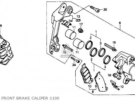 Honda St1100 1991 m Usa California Front Brake Caliper 1100
