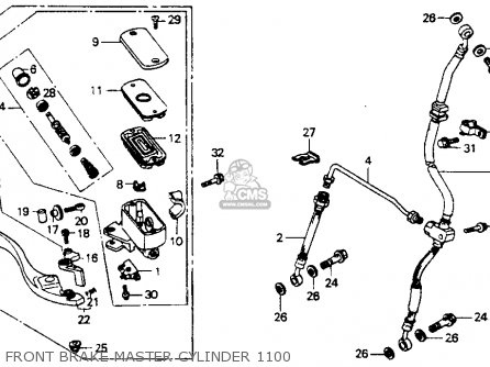 Honda St1100 1991 m Usa California Front Brake Master Cylinder 1100