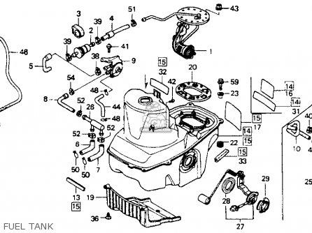Honda St1100 1991 m Usa California Fuel Tank