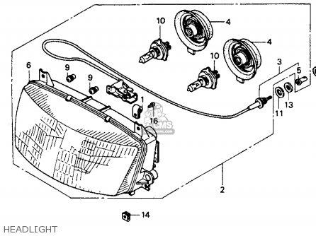Honda St1100 1991 m Usa California Headlight