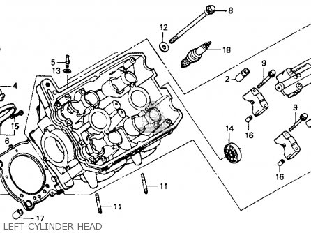 Honda St1100 1991 m Usa California Left Cylinder Head