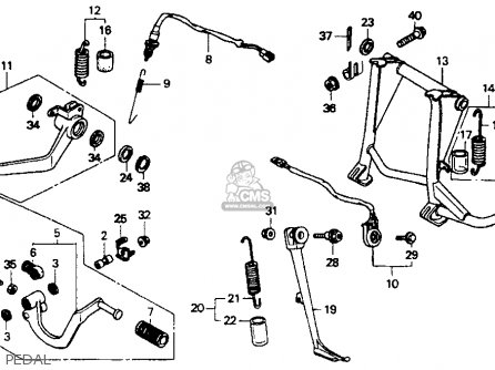 Honda St1100 1991 m Usa California Pedal