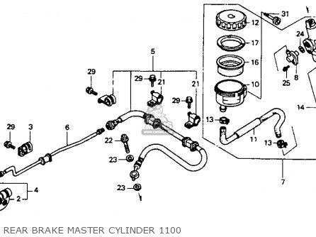 Honda St1100 1991 m Usa California Rear Brake Master Cylinder 1100