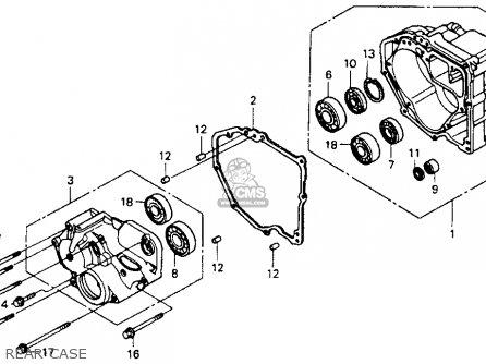 Honda St1100 1991 m Usa California Rear Case