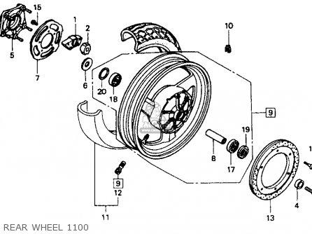Honda St1100 1991 m Usa California Rear Wheel 1100