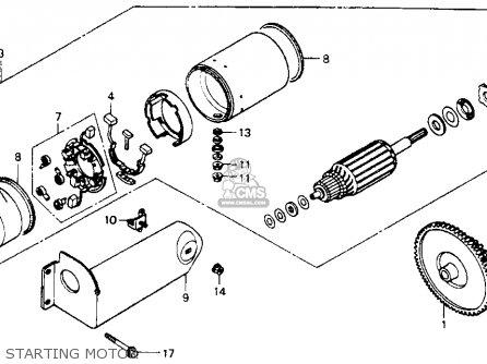 Honda St1100 1991 m Usa California Starting Motor