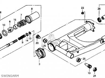 Honda St1100 1991 m Usa California Swingarm