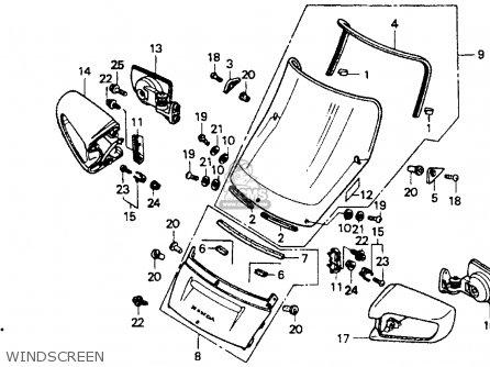 Honda St1100 1991 m Usa California Windscreen