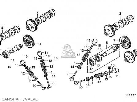 Honda St1100 Paneuropean 1991 m Austria   Kph Camshaft valve