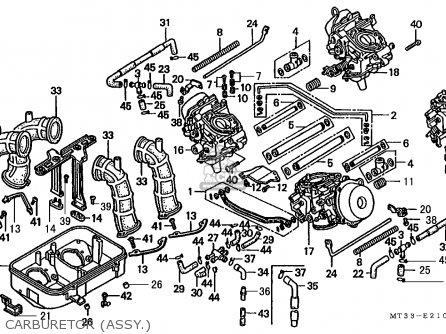 Honda St1100 Paneuropean 1991 m Austria   Kph Carburetor assy