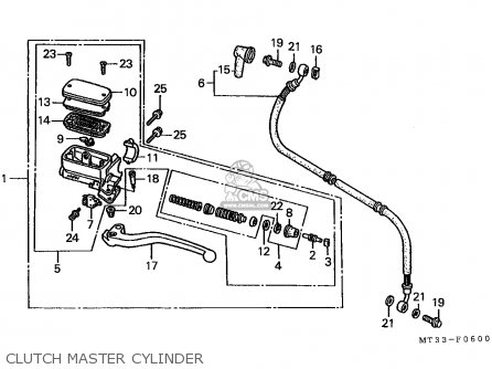 Honda St1100 Paneuropean 1991 m Austria   Kph Clutch Master Cylinder