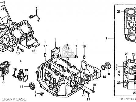 Honda St1100 Paneuropean 1991 m Austria   Kph Crankcase