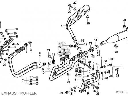 Honda St1100 Paneuropean 1991 m Austria   Kph Exhaust Muffler
