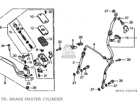 Honda St1100 Paneuropean 1991 m Austria   Kph Fr  Brake Master Cylinder