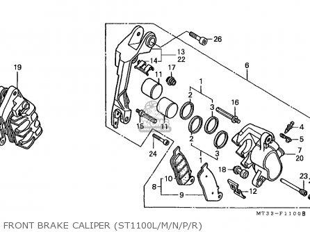 Honda St1100 Paneuropean 1991 m Austria   Kph Front Brake Caliper st1100l m n p r