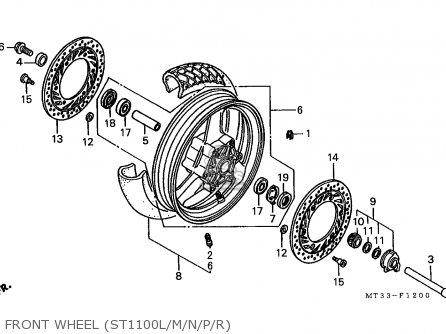 Honda St1100 Paneuropean 1991 m Austria   Kph Front Wheel st1100l m n p r