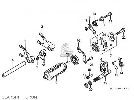 Honda St1100 Paneuropean 1991 m Austria   Kph Gearshift Drum