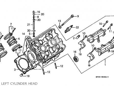 Honda St1100 Paneuropean 1991 m Austria   Kph Left Cylinder Head