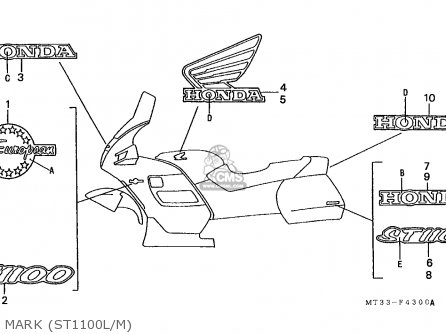 Honda St1100 Paneuropean 1991 m Austria   Kph Mark st1100l m
