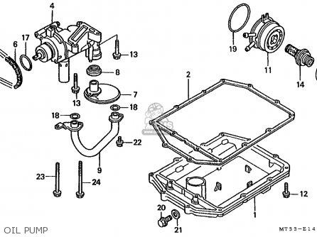Honda St1100 Paneuropean 1991 m Austria   Kph Oil Pump