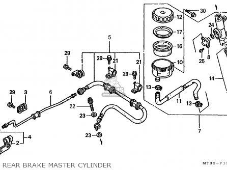 Honda St1100 Paneuropean 1991 m Austria   Kph Rear Brake Master Cylinder