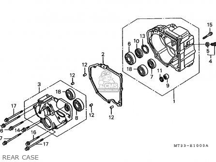 Honda St1100 Paneuropean 1991 m Austria   Kph Rear Case