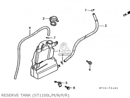 Honda St1100 Paneuropean 1991 m Austria   Kph Reserve Tank st1100l m n p r