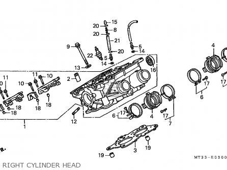 Honda St1100 Paneuropean 1991 m Austria   Kph Right Cylinder Head