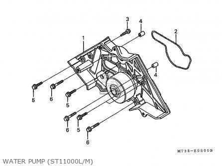 Honda St1100 Paneuropean 1991 m Austria   Kph Water Pump st11000l m