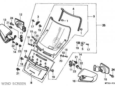 Honda St1100 Paneuropean 1991 m Austria   Kph Wind Screen