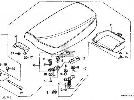 honda st70 dax 1992 spain parts list partsmanual partsfiche. Black Bedroom Furniture Sets. Home Design Ideas
